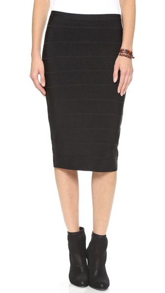 BB Dakota Senet Pencil Skirt in Black