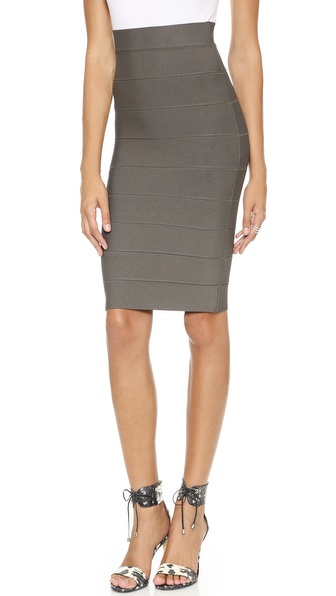 BCBGMAXAZRIA Leger Pencil Skirt in Dark Fatigue