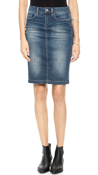 Blank Denim Denim Pencil Skirt in T-Wild