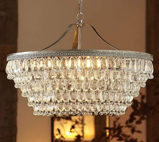 Pottery Barn Bronze Chandelier: A Glam Chandelier Makes A House A Home + Pottery Barn 20