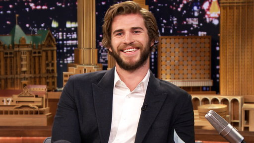 """Jimmy Fallon has """"The Hunger Games"""" star Liam Hemsworth answer fans Twitter questions and talks about kissing Jennifer Lawrence on the Friday, November 14th episode of """"The Tonight Show Starring Jimmy Fallon""""!"""
