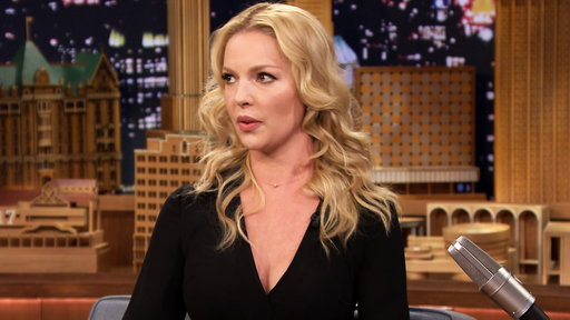 Katherine Heigl chats with Jimmy Fallon about her ranch and fainting goat!