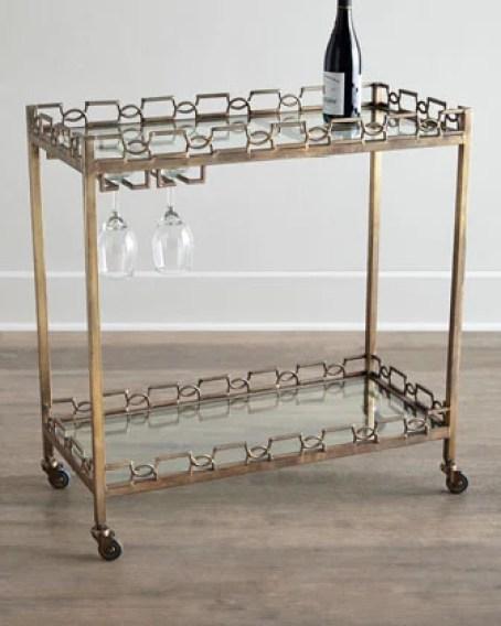 Gold Hamilton Bar Cart