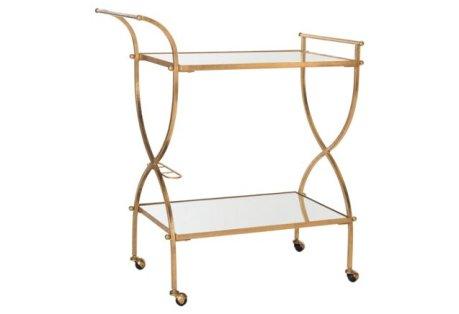 Luiza Bar Cart, Gold. One Kings Lane
