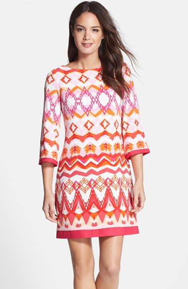 Eliza J Graphic Print Shift Dress