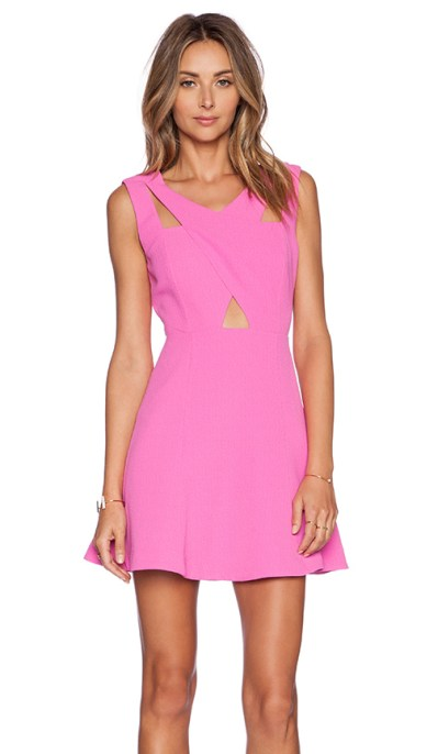 FIT AND FLARE DRESS By J.O.A. in Fuchsia Pink