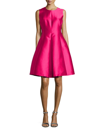 kate spade new york classic fit and flare dress in Sweetheart Pink