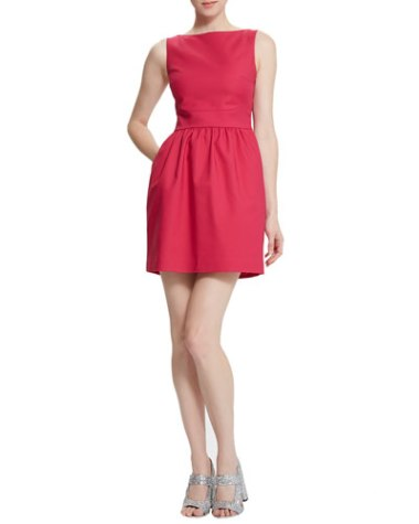Raoul  Cara Cross-Back Dress, Pigment Red