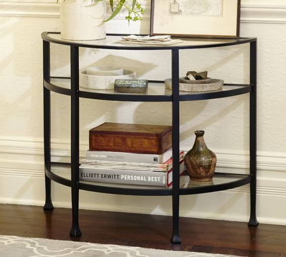 Pottery Barn TANNER DEMILUNE CONSOLE TABLE