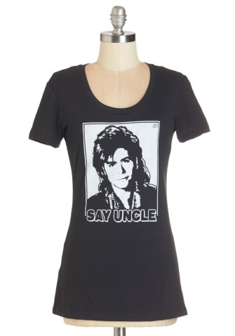 Have Mirth-y! Uncle Jesse (Full House) Graphic Statement Tee in Black