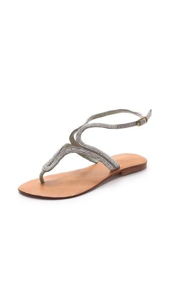 Cocobelle Mila Beaded Sandals in Silver. Shopbop