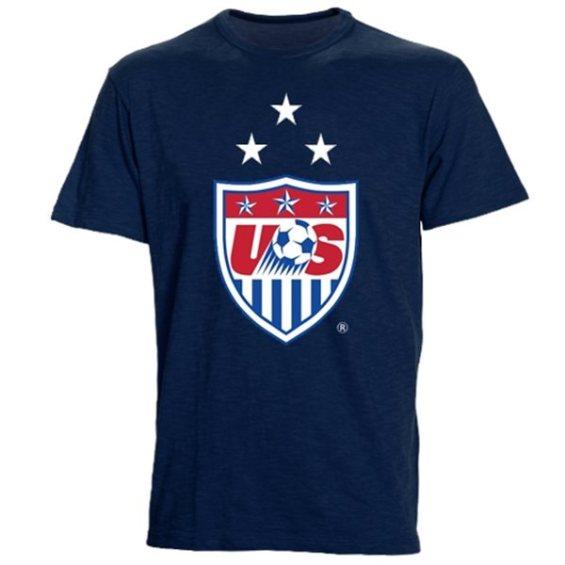 '47 Brand US Soccer Navy 3-Star Crest Scrum T-Shirt