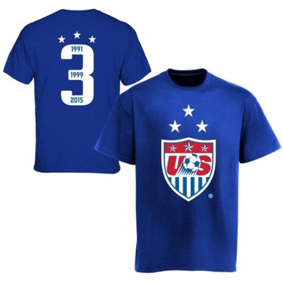 '47 Brand US Soccer Royal 3-Year Crest Champion Flanker T-Shirt