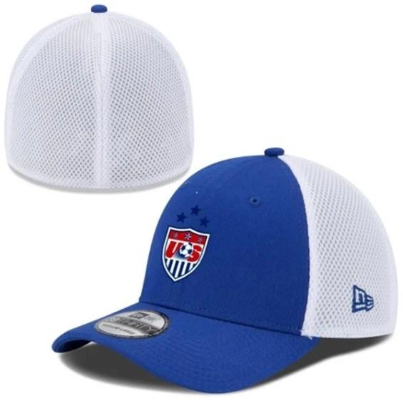 New Era US Women's Soccer Team Royal/White 2015 Champions 3-Star 39THIRTY Flex Hat