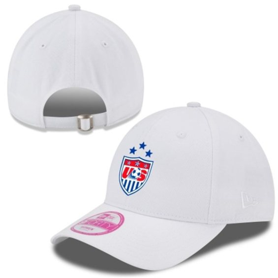 New Era US Women's Soccer Team Women's White 2015 Champions 3-Star 9FORTY Flex Hat
