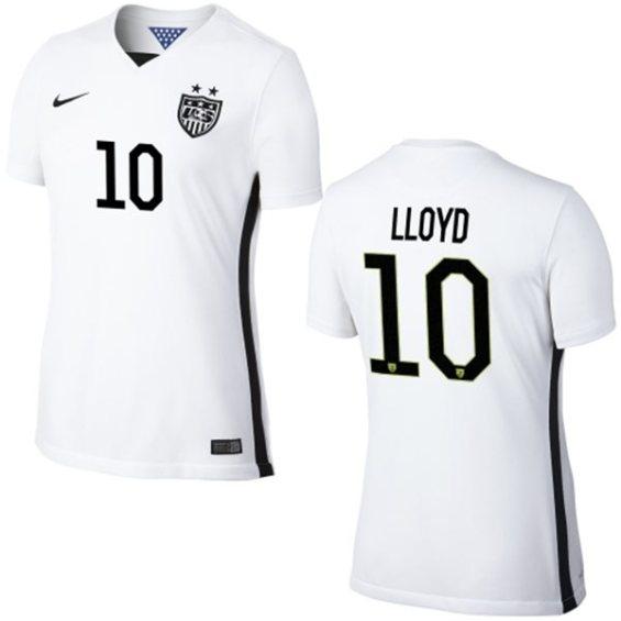 Nike Carli Lloyd USA Soccer Women's White Home Replica Jersey
