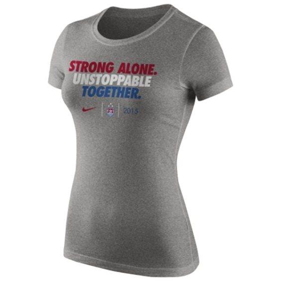 Nike US Women's Soccer Team Women's Heather Gray 2015 World Champions Slogan Dri-Blend T-Shirt