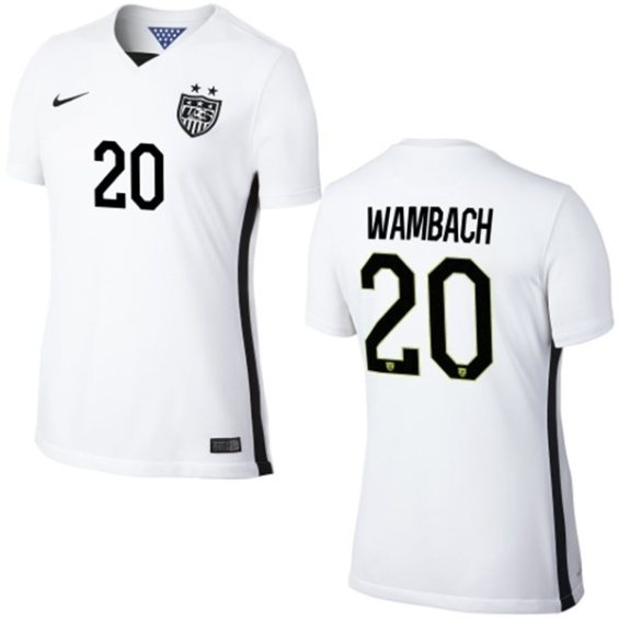Nike USA Abby Wambach Womens Home Replica Jersey - White