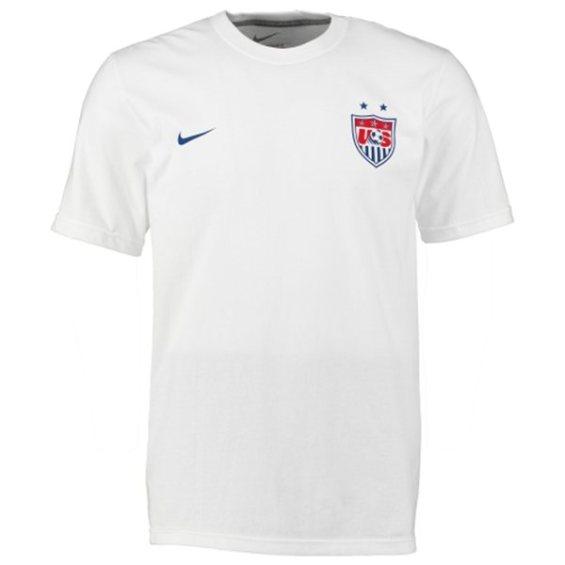 Nike USA White Crest and Swoosh T-Shirt