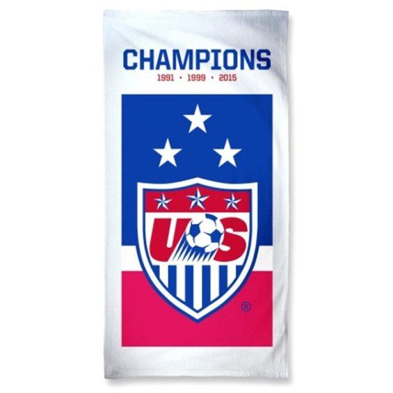 "WinCraft US Women's Soccer Team Blue 1991, 1999, 2015 World Cup Champions 30"" x 60"" Towel"
