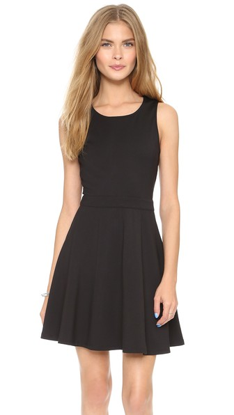 cupcakes and cashmere Griffith Fit & Flare Dress in Black