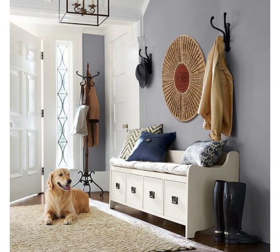 pottery barn entryway sale benches and
