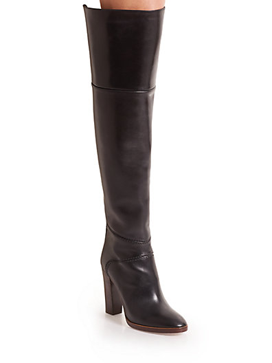 Chloé Leather Over-the-Knee Boots in Black