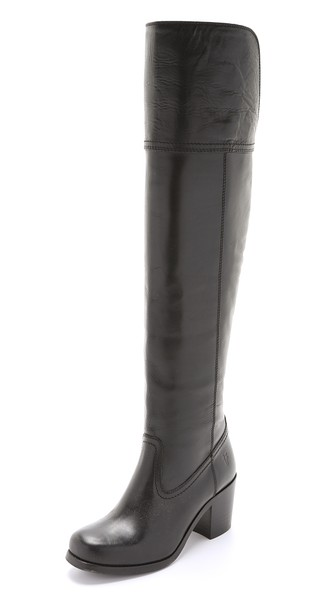 Frye Kendall Over the Knee Boots in Black