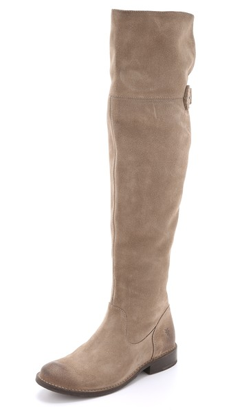 Frye Shirley Suede Over the Knee Boots in Ash
