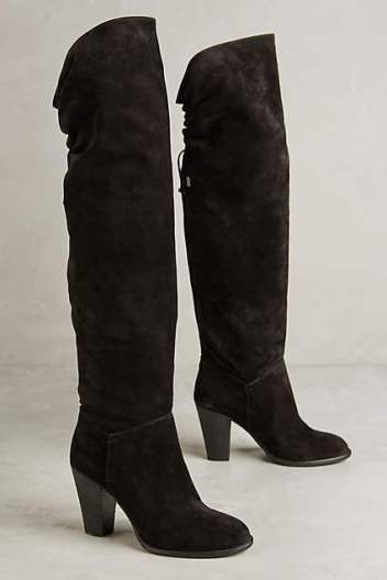 Miss Albright Fulton Knee Boots by Miss Albright in Black