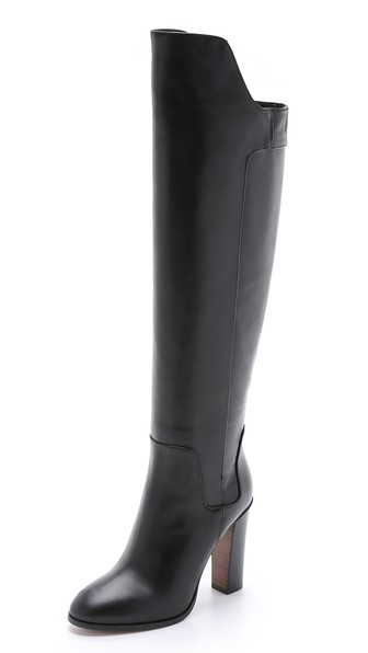 Vince Dempsey Over-The-Knee Boots in Black
