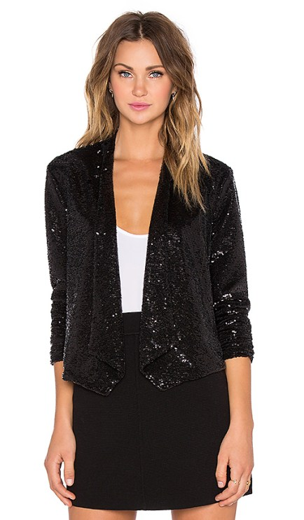 BB Dakota Christel Sequin Blazer in Black