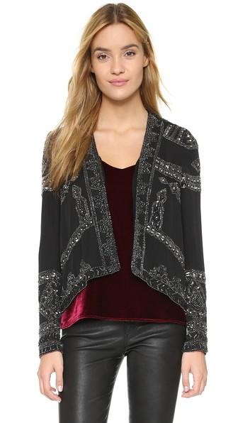 Parker Pippa Sequin Jacket in Black