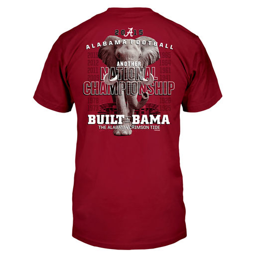 ALABAMA CRIMSON TIDE CRIMSON COLLEGE FOOTBALL PLAYOFF 2015 NATIONAL CHAMPIONS ELEPHANT T-SHIRT