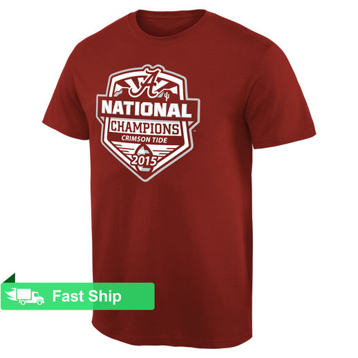 ALABAMA CRIMSON TIDE CRIMSON COLLEGE FOOTBALL PLAYOFF 2015 NATIONAL CHAMPIONS OFFICIAL T-SHIRT
