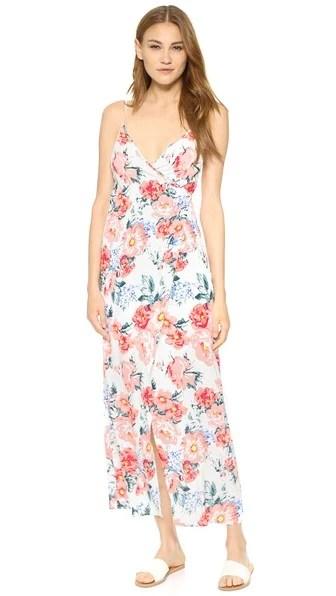 MINKPINK Little Blooms Floral Print Maxi Wrap Dress wrap dresses for easter