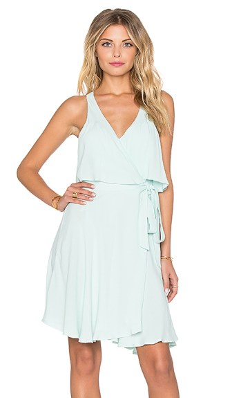Tigerlily Ligeia Wrap Dress Thermal Mint
