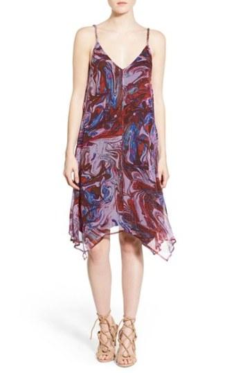 Ella Moss 'Celeste' Silk Trapeze Dress Berry trapeze dresses for easter