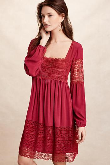 Floreat Aveline Lace Dress Raspberry trapeze dresses for easter