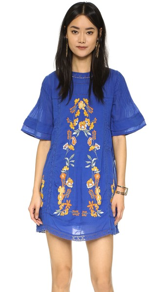 Free People Perfectly Victorian Embroidered Mini Dress Bluebird Shopbop Big Event Sale