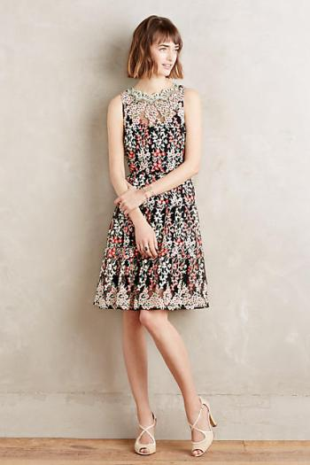 HD in Paris Embroidered Emilia Dress Black Motif trapeze dresses for easter