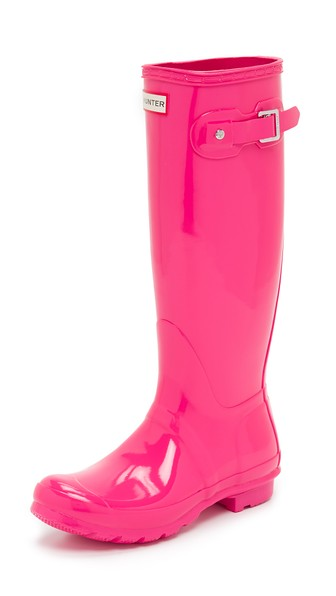 Hunter Boots Original Tall Gloss Boots Bright Cerise Pink Shopbop Big Event Sale