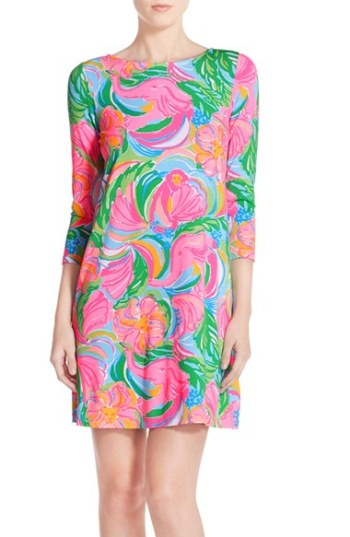 Lilly Pulitzer® 'Ophelia' Stretch Floral Print Dress Multi So Appealing trapeze dresses for easter