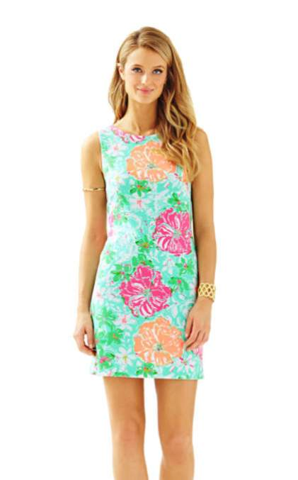 Lilly Pulitzer EDEN A-LINE SHIFT DRESS Poolside Blue Beach Walk