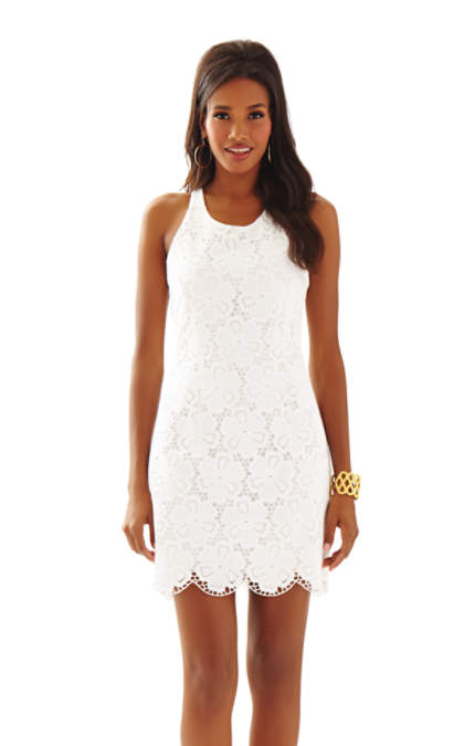 lilly pulitzer shift dresses for easter Lilly Pulitzer GRAYES EYELET SHIFT DRESS Resort White Dotted Blossom Eyelet
