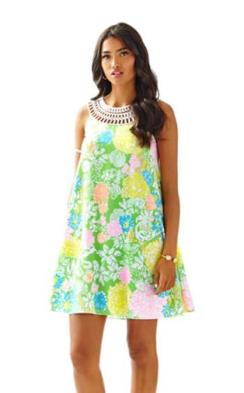 Lilly Pulitzer JILLIE SWING DRESS Multi Hibiscus Stroll Floral Print