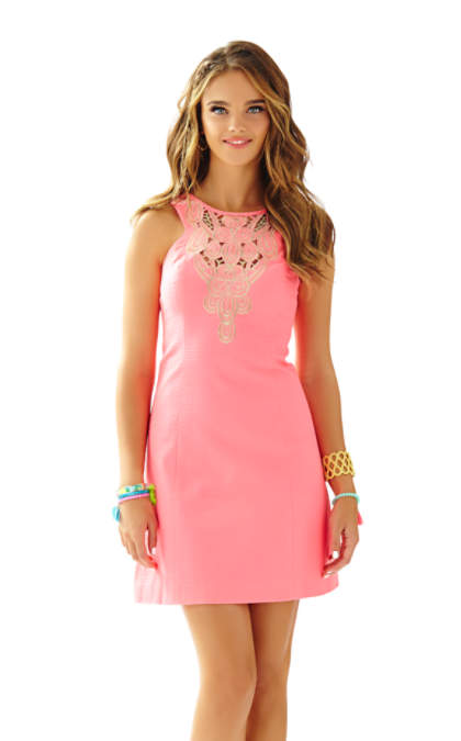 Lilly Pulitzer LARGO CUT-IN SHIFT DRESS Pink Sun Ray