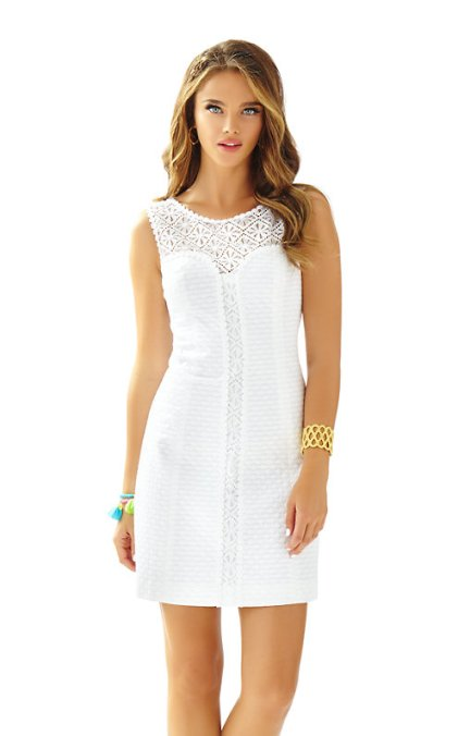 Lilly Pulitzer SOFIA LACE SHIFT DRESS Resort White