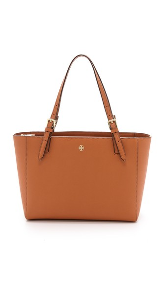 Tory Burch York Small Buckle Tote Luggage Shopbop Spring Sale