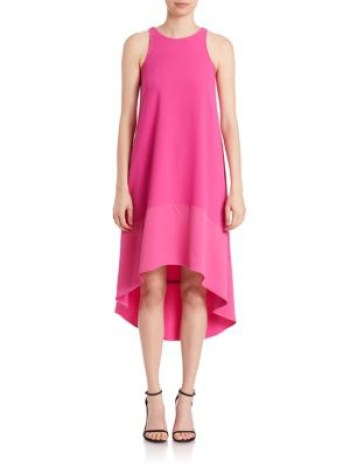 Trina Turk Trapeze Hi-Lo Dress Brilliant Fuchsia trapeze dresses for easter